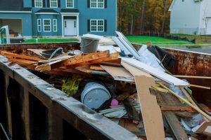dumpster full of junk