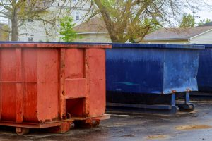 Red & Blue Dumpsters