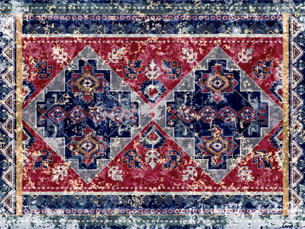 Old faded rug